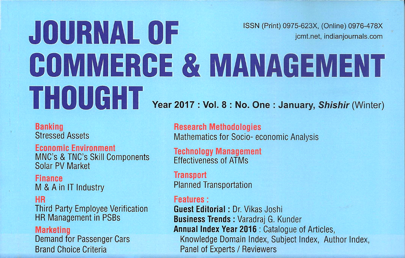How Entrepreneurs Encounter Opportunities: Management Journal Features Dr. Vikas Joshi's Thoughts