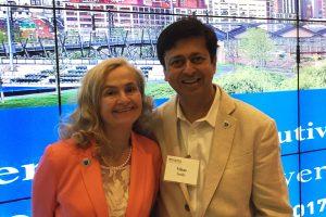 American Association for Education Research (AERA) Award:  Dr Annie McKee honors Dr. Vikas Joshi at University of Pennsylvania, Philadelphia. June 09, 2017